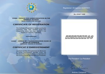 CERTIFICATE OF REGISTRATION CERTIFICAT D ...