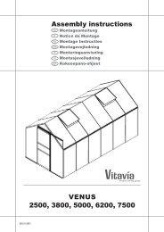 Venus 2500, 3800, 5000, 6200, 7500 Assembly instructions