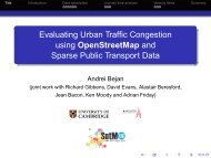 Evaluating Urban Traffic Congestion using OpenStreetMap and ...