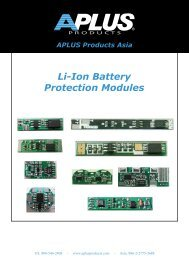 Li-Ion Battery Protection Modules APLUS Products Asia