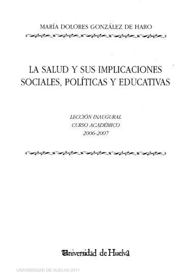 la salud y sus implicaciones sociales, políticas y educativas