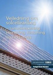 vejledning om solcelleanlæg (PDF) - Dansk Standard