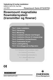 Rosemount magnetiske flowmålersystem (transmitter og flowrør)