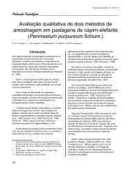 Avaliação qualitativa de dois métodos de amostragem em ...