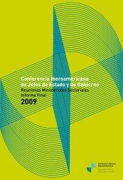 Reuniones Ministeriales Sectoriales 2009 - Segib