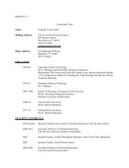 SMITH/CV 1 Curriculum Vitae - Yale Divinity School - Yale University