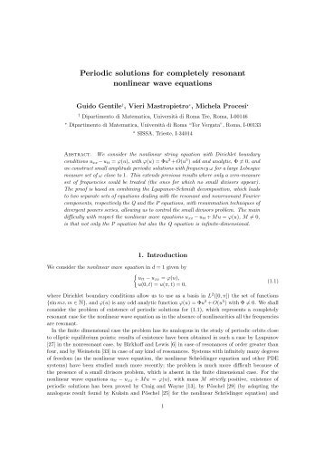 Periodic solutions for completely resonant nonlinear wave equations