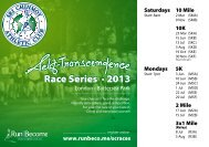Race Series • 2013 Race Series • 2013 - Sri Chinmoy Athletic Club UK