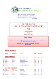 SELF TRANSCENDENCE 5K - Sri Chinmoy Athletic Club UK