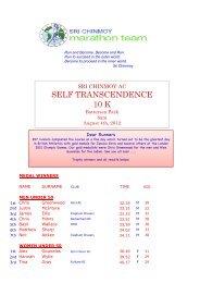 Results - Sri Chinmoy Athletic Club UK