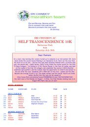 Self Transcendence 10K - Sri Chinmoy Athletic Club UK