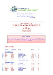 11/7 2 mile Final results - Sri Chinmoy Athletic Club UK