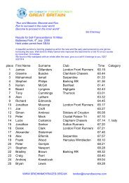 10 Mile July 2009.pdf - Sri Chinmoy Athletic Club UK