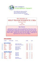 Self Transcendence 2 Miles - Sri Chinmoy Athletic Club UK