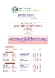 9th July - Sri Chinmoy Athletic Club UK