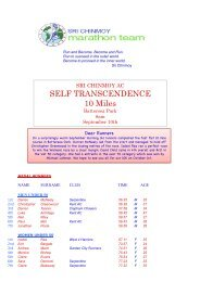 Self Transcendence 10M - Sri Chinmoy Athletic Club UK
