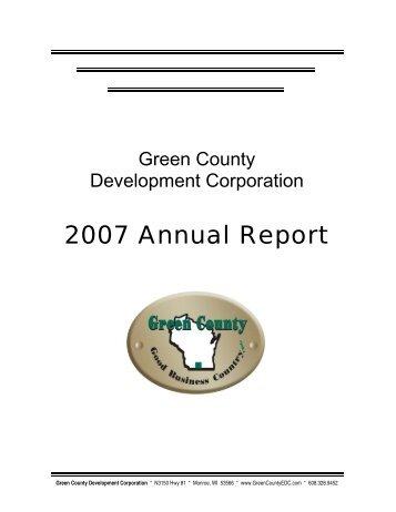 2007 Annual Report - Green County Development Corporation