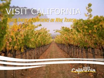 North American Conference on Wine Tourism - the California ...