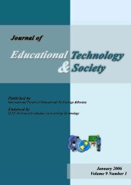 January 2006 Volume 9 Number 1 - Educational Technology & Society
