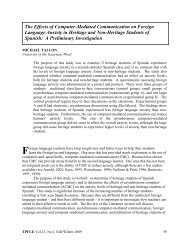 The Effects of Computer-Mediated Communication on Foreign ...