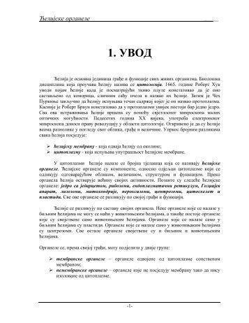 Celijske organele - Seminarski Maturski Diplomski Radovi
