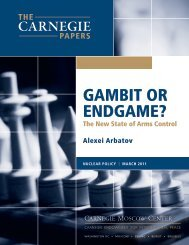 Gambit or Endgame? - Carnegie Endowment for International Peace