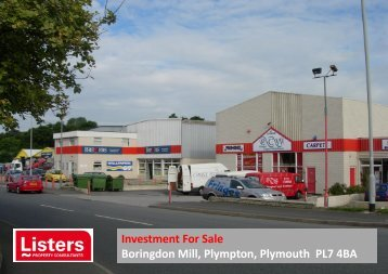 Investment For Sale Boringdon Mill, Plympton, Plymouth PL7 4BA
