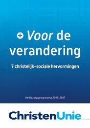Verkiezingsprogramma 2013-2017 - ChristenUnie