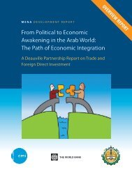 From political to economic Awakening in the Arab World: the ... - CMI
