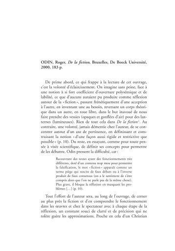 Publication en ligne - Centre de recherche sur l'intermédialité ...
