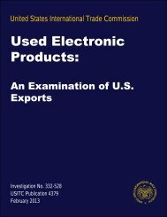 Used Electronic Products: An examination of US Exports - USITC