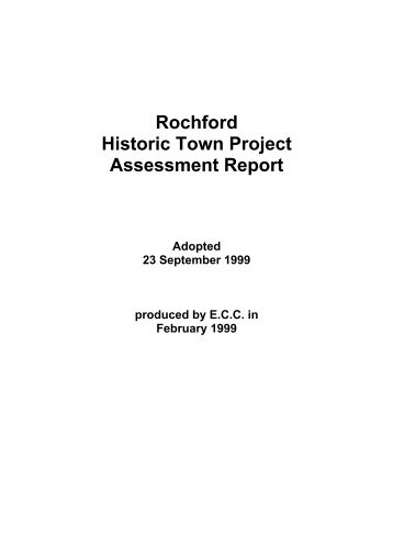 ROCHFORD: TOWN ASSESSMENT REPORT