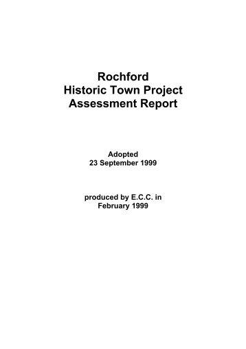 ROCHFORD: TOWN ASSESSMENT REPORT
