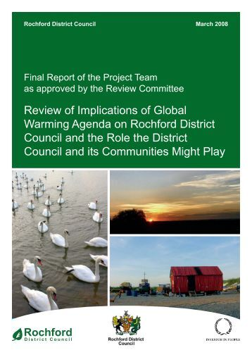 Implications of Global Warming Agenda on Rochford District Council ...