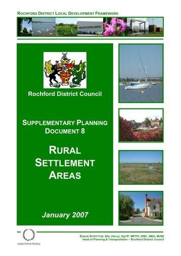 SPD8 - Rural settlement areas