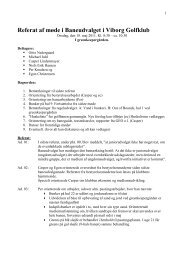 Referat fra baneudvalgsmøde den 18.05.2011 - Viborg Golfklub