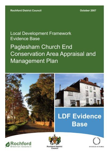 Paglesham Church End Conservation Area Appraisal and ...