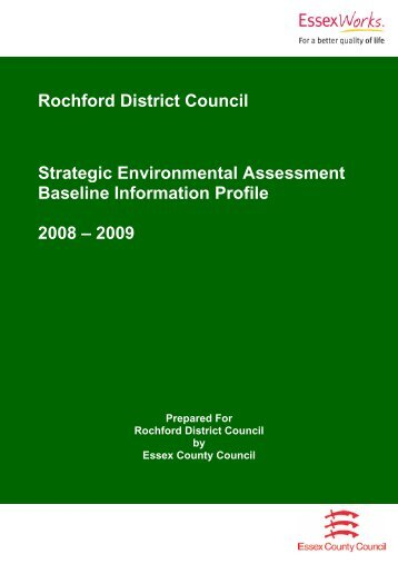 Strategic Environmental Assessment Baseline Information Profile 2008