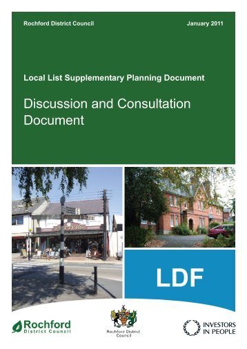 Local List Supplementary Planning Document - Amazon Web Services