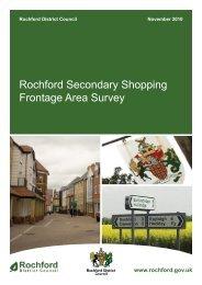 Rochford Secondary Shopping Frontage Survey - Amazon Web ...