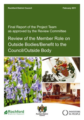 Review of the Member Role on Outside Bodies/Benefit to the ...