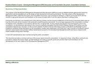 Development Management Discussion and Consultation Document ...