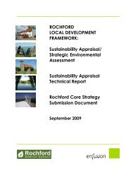 Sustainability Appraisal of the Core Strategy Submission Document