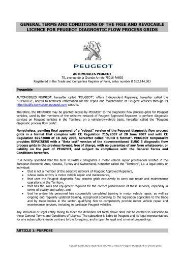 AP CGL Gratuite et Précaire Gammes Diag ... - Peugeot Service Box