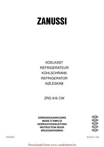 ZANUSSI - Vanden Borre
