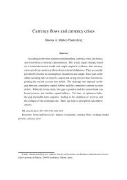 Currency flows and currency crises - DAAD partnership on ...