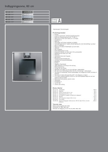 Indbygningsovne, 60 cm - Boform CPH