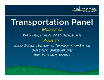 CTTC Sustainable Summit - the California Tourism Industry Website