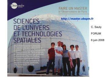 MASTER 2 - Formation et Enseignement à l'Observatoire de Paris