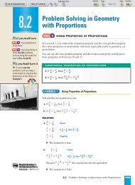 8-2 Problem Solving in Geometry with Proportions - Nexuslearning.net